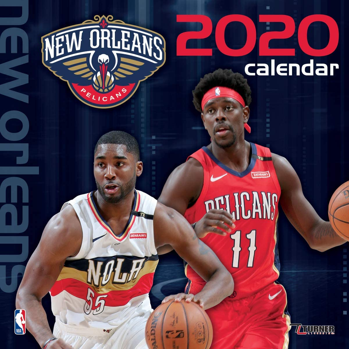 Turner Licensing 2020 New Orleans Pelicans Team Wall Calendar