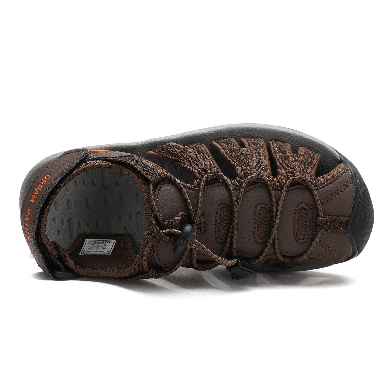 DREAM PAIRS Women's 160912-W Adventurous Summer Outdoor Sandals B077GC4THF 6.5 M US|Brown Blk Orange