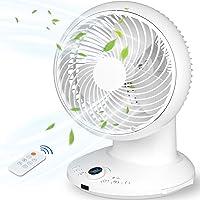 Ventilador de Mesa/ Escritorio Potente, Ventilador Circulación del Aire Silencioso con 4 Velocidades,3 Modos, Control Remoto, 430°Girar,…