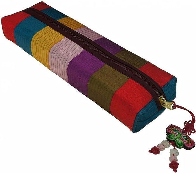 diseño con texto en inglés estuche con forma de bloque multicolor para almacenamiento de para fiestas material escolar, barato estuche, realizar manualidades coreana: Amazon.es: Oficina y papelería