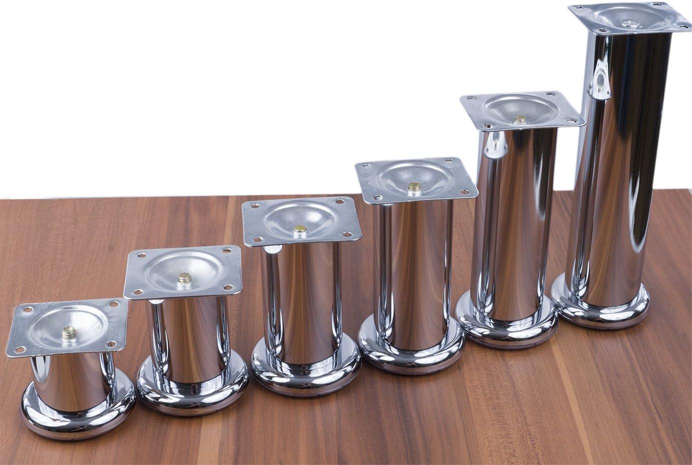 4 x CHROM M/öbelf/ü/ße /Ø47 mm L/änge 150 mm M/öbelfu/ß Sockelfu/ß Sockelf/ü/ße Tischfu/ß M/öbel Fu/ß F/ü/ße