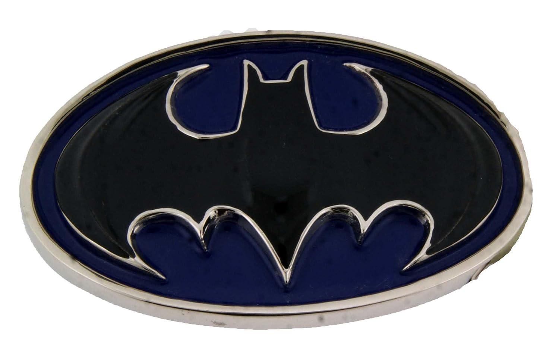 Mens BLUE /& BLACK OVAL 3D BATMAN Punk Rock Metal Belt Buckle