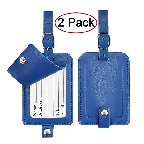 Etiquetas de equipaje, Galopar Maletín de Cuero ID Etiquetas Viajes Equipaje Bagaje Bolso Etiqueta Etiquetas