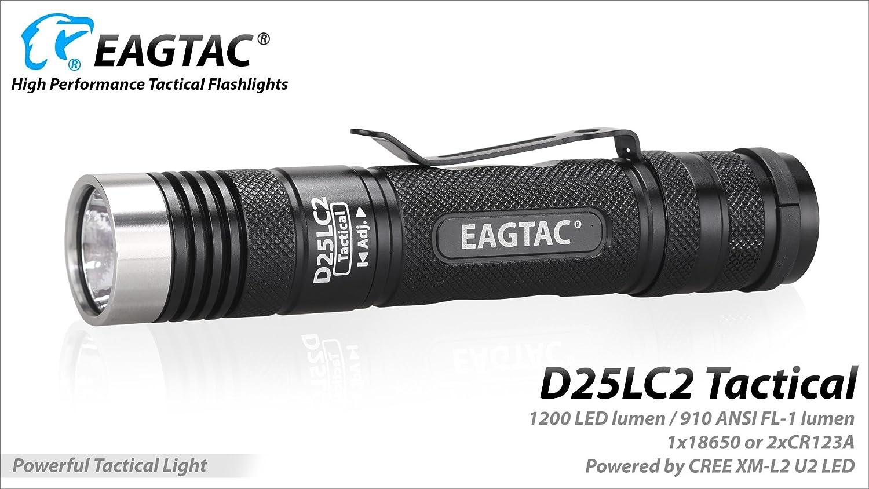 EagTac D25LC2 Tactical CW xplhi 1200 Lumens 18200 Lux 270 Meter