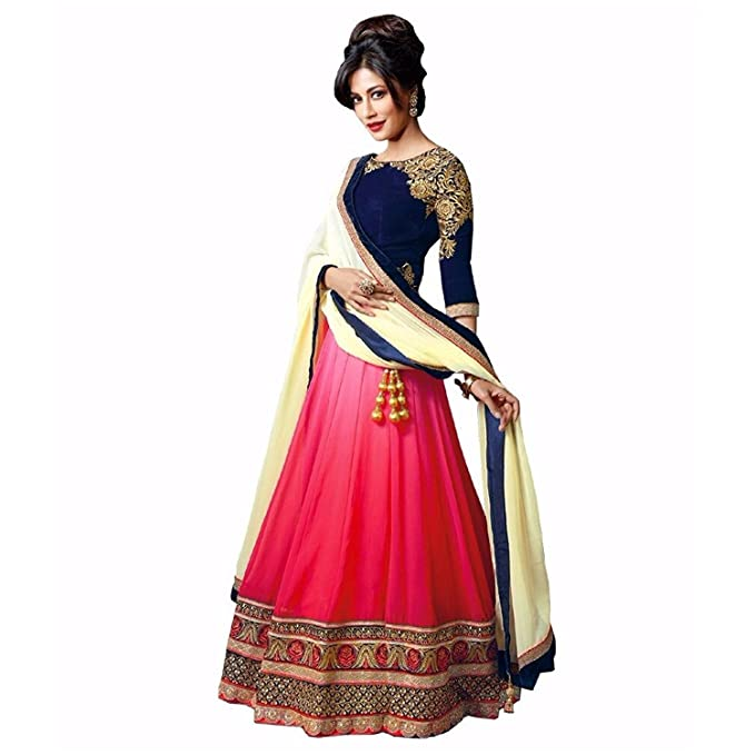 1d735c48981ab4 S R Fashion Women'S Georgette Lehenga Choli (Sr-107_Red & Blue_Free Size):  Amazon.in: Clothing & Accessories