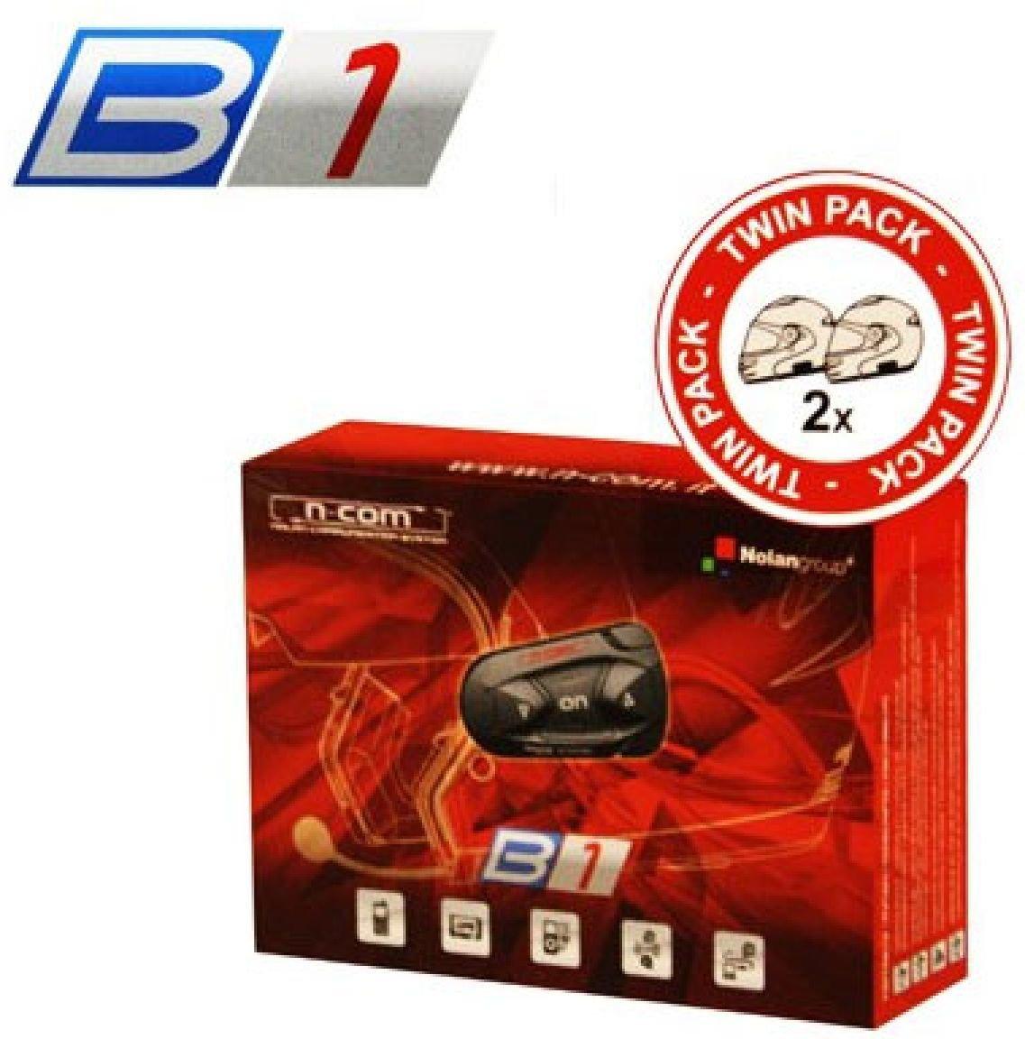 Nolan N-COM Kit B1 Bluetooth per casco, twin pack, misura unica B1 TWIN PACK