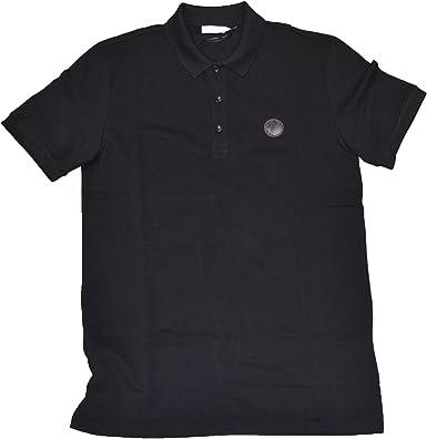 Versace Collection - Polo - para hombre Negro negro Medium: Amazon ...