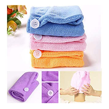 Amazon.com : 1Pcs Hair Quick Drying Bath Towel Sauna Spa Tub Cap Head Wrap Shower Bath Caps Toalha Toallas Bath Towels For Adults Hand Towels Purple : ...