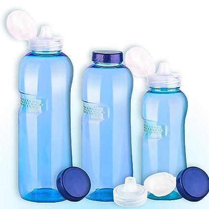 Cavodrink Juego de 3 Botellas 0,5 – 0,75 – 1L – Botellas