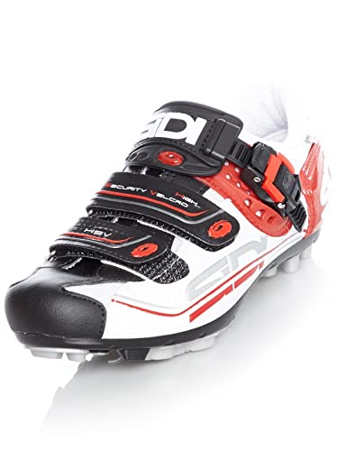 Zapatillas MTB Sidi 2018 Eagle 7 Fit Blanco-Negro-Rojo: Amazon.es: Zapatos y complementos