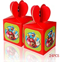 Yisscen 24 stuks snoepdoosjes Kerstmis, Super Mario feestdoosjes voor kinderverjaardag, gastgeschenkzakjes voor Kerstmis…