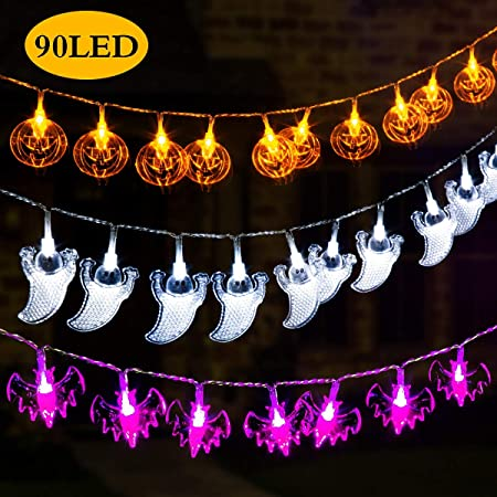 Amazon.com: GIGALUMI Luces decorativas para Halloween, juego ...