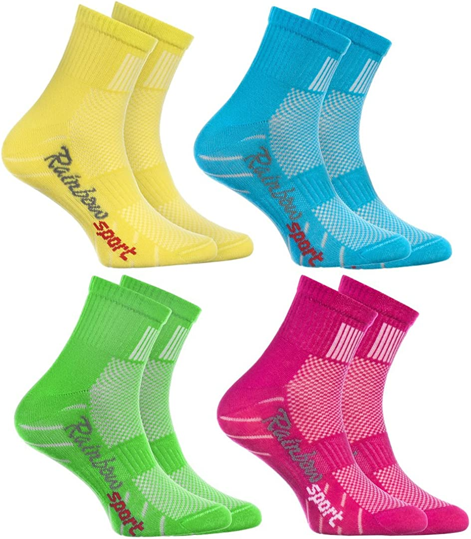 Rainbow Socks - Niño Niña Calcetines Deporte Colores Algodón