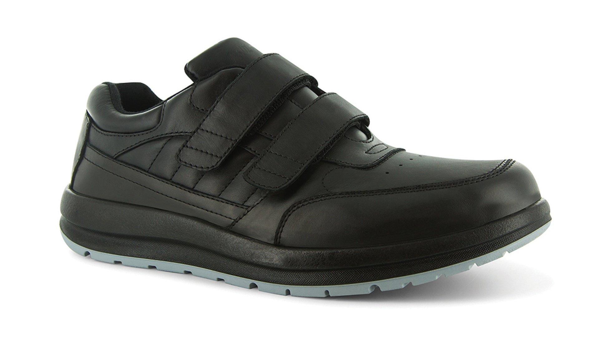 P W Minor Performance Walker Men's Therapeutic Casual Extra Depth Shoe: Black 14 X-Wide (2E-3E) Velcro