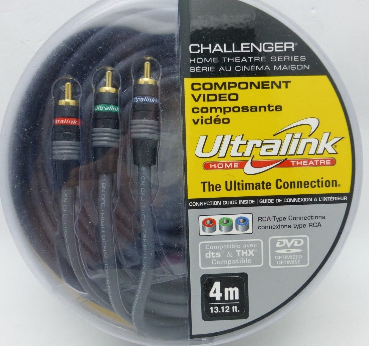 Amazon.com: Ultralink Ccv-4m Challenger[r] Component Video Cable [4 ...
