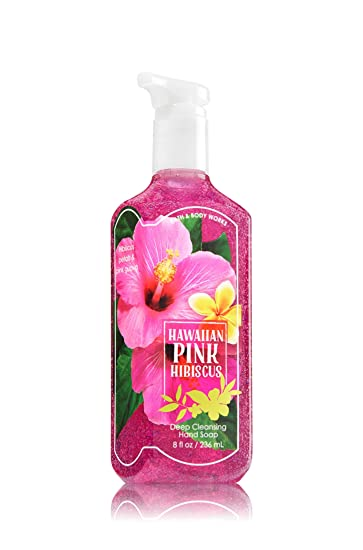 Bath Body Works Deep Cleansing Hand Soap Hawaiian Pink Hibiscus