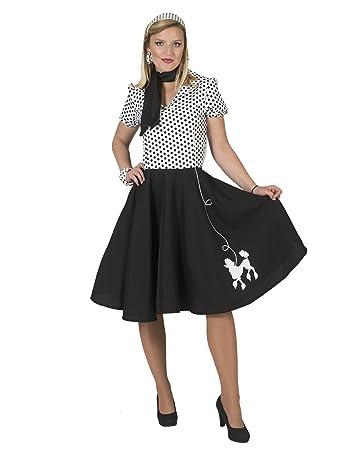 Polka Dot Rockabilly Kleid in schwarzweiß Rock/'n/'Roll Karneval Fasching