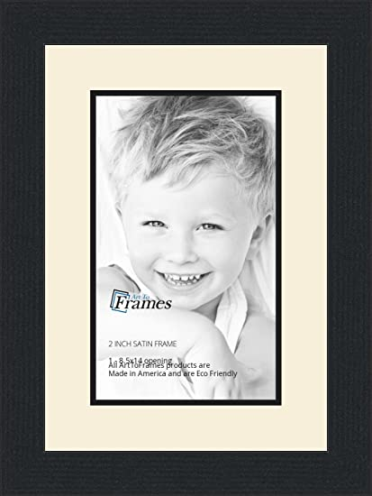 Amazon.com - 8.5x14 / 8.5 x 14 Picture Frame Satin Black .. 2\'\' wide ...