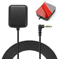 Bingfu Vehículo Coche Dash CAM Antena GPS Activa Conector de Audio 3.5 mm para Coche Ccamión SUV Parabrisas Espejo Dash…