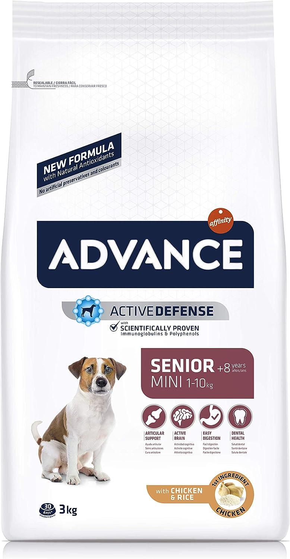 Advance Mini Senior - Pienso para Perros Senior De Razas Pequeñas - 3 Kg: Amazon.es: Productos para mascotas
