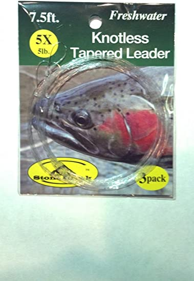 Fly Fishing Stone Creek Knotless Tapered Leader 7.5ft 6X 3pk