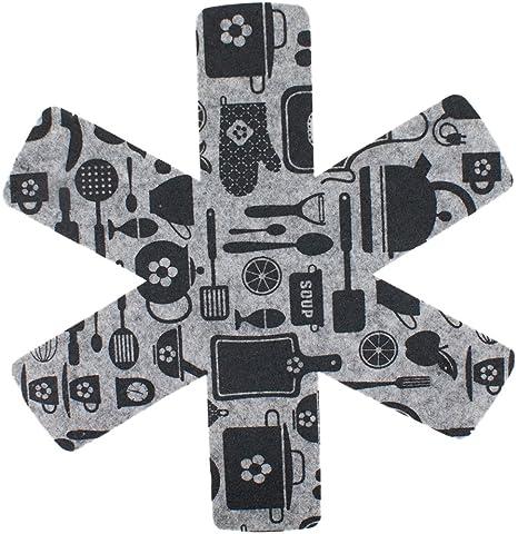 PAMEX Protector Sartenes Utensilios de Cocina 2x38, 33, 28 24 cm Pack 5 Unidades