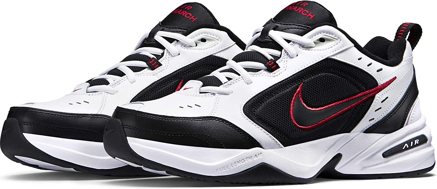 Nike Air Monarch IV White Black Red 415445 101 Men