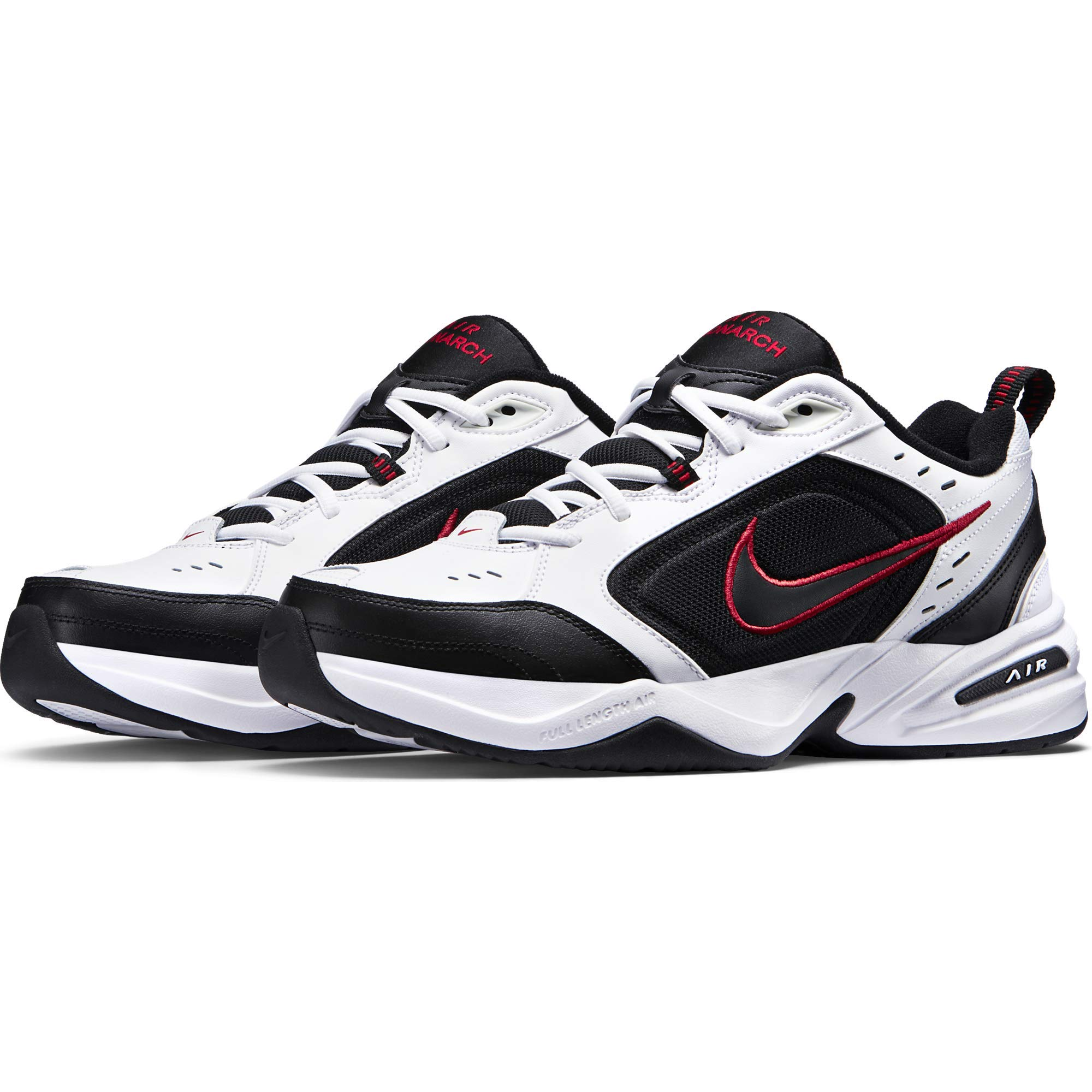 Nike Air Monarch IV Training Shoe (4E) - White/Black/Varsity Red, Size 8 US by Nike