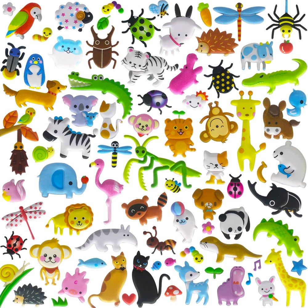 Pegatinas para niños de 8/10 Hojas (400~500+ Piezas) de Divertidas Pegatinas de Espuma Reutilizables 3D, Juguetes para niños, niños, niños y niños pequeños. PeterPon