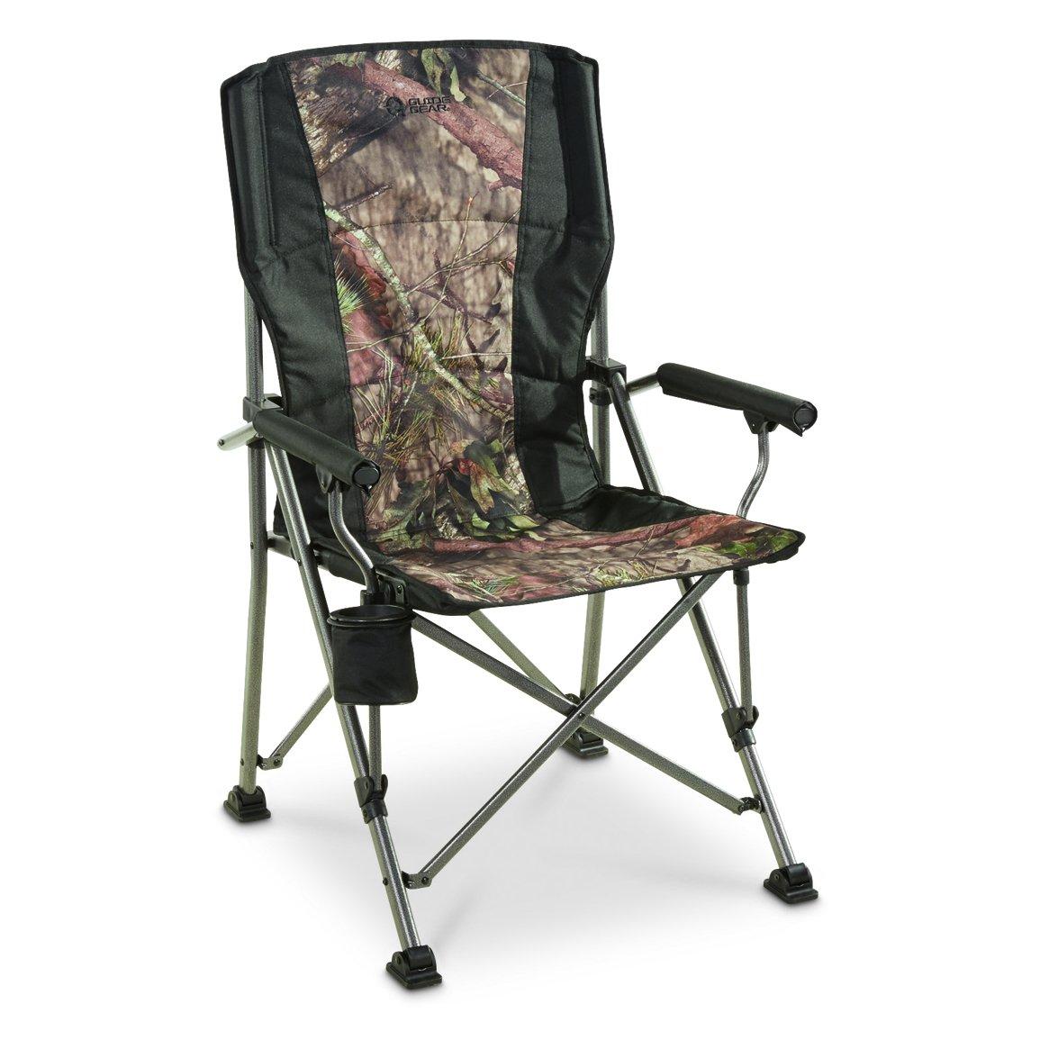 ガイドギアOversized ChampionハードアームCamp Chair Mossy Oak break-up国 B079GZXXVP