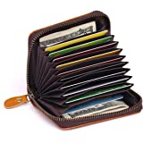 APHISON RFID Blocking Coin Pouch Purse Credit Card Case Holder Wallet with Zipper 8117 (Yellow)