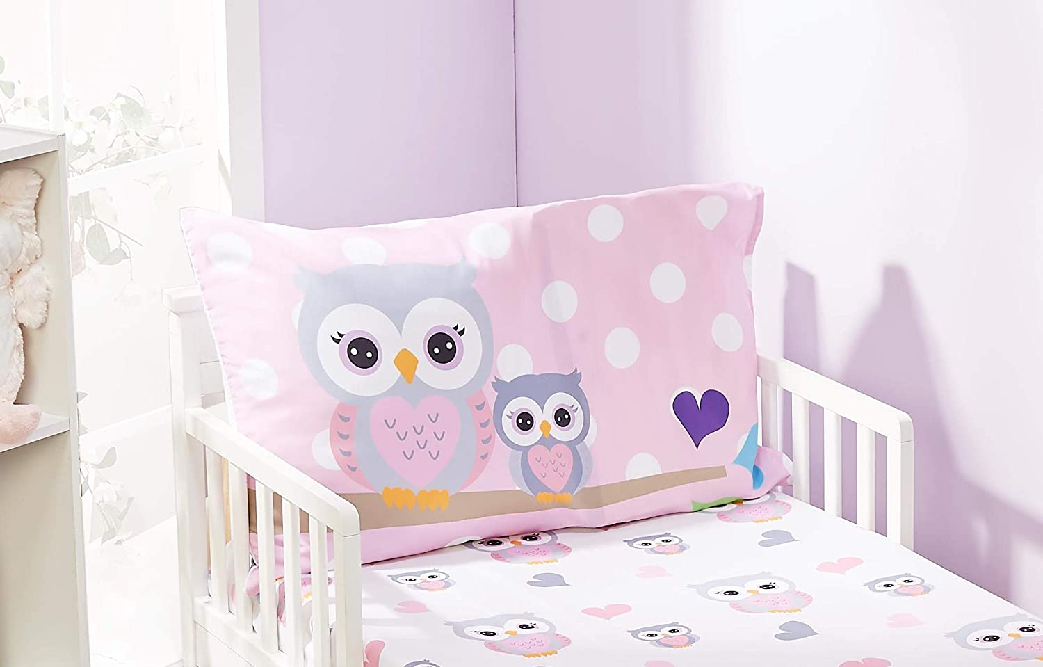 Soft Microfiber Breathable and Hypoallergenic Toddler Sheet Set EVERYDAY KIDS Toddler Fitted Sheet and Pillowcase Set Under Construction