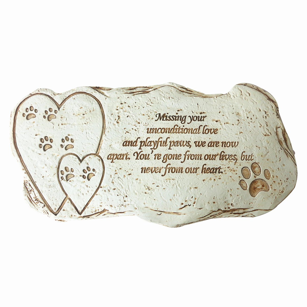 JHB Pet Memorial Dog Stone, Hand-printed Personalized Loss of Pet Gifts