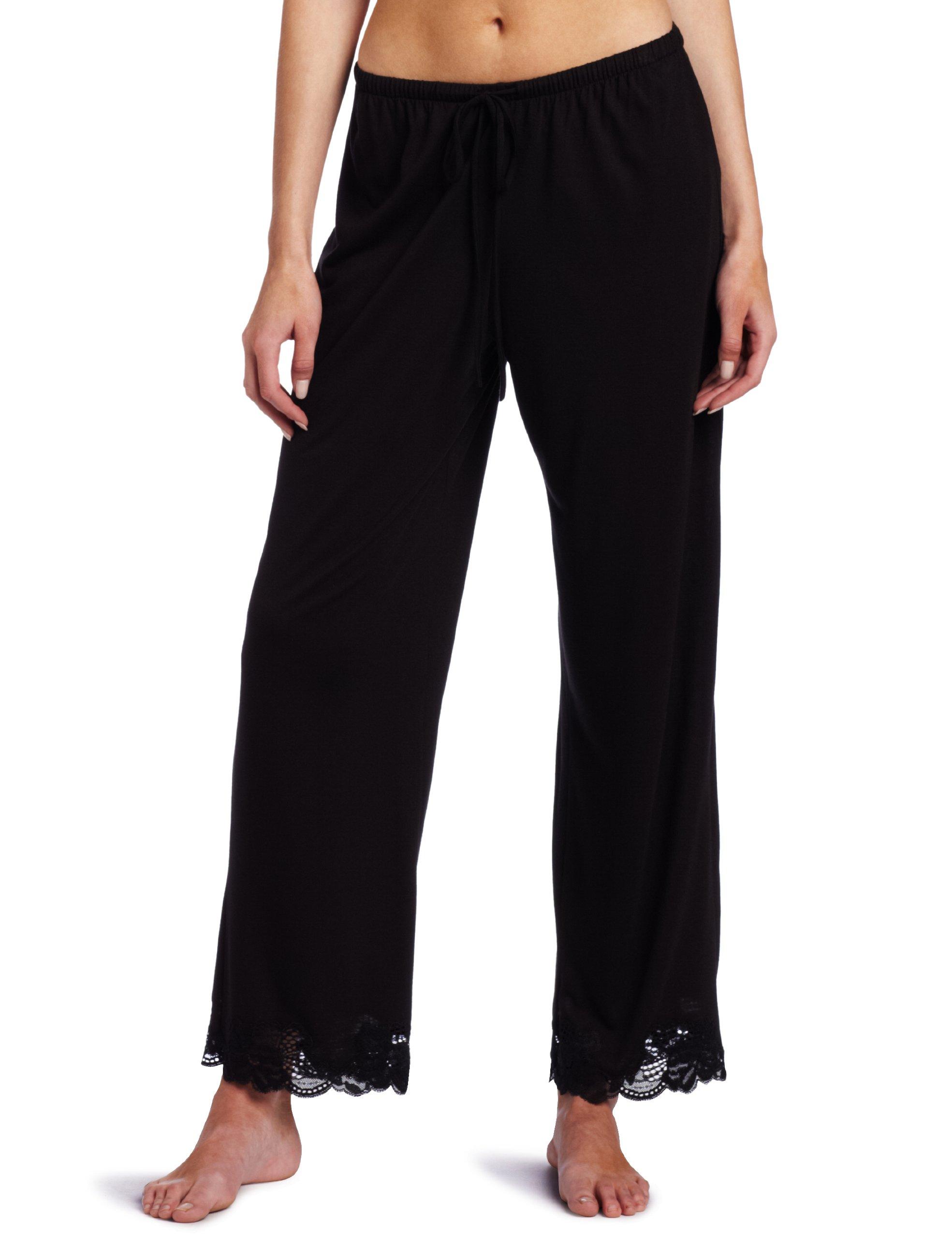 Natori Women's Plus-Size Zen Floral Pajama Set, Black, 2X by Natori (Image #3)