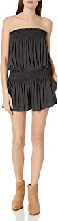 product image for Norma Kamali Women's Strapless Peasant Romper
