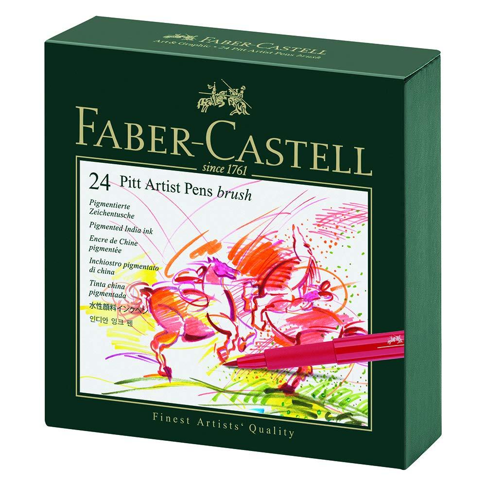 Faber-Castel Pitt Artist Brush Pens (24 Pack), Multicolor (167147)