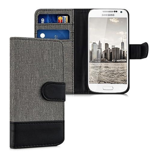 171 opinioni per kwmobile Custodia portafoglio per Samsung Galaxy S4 Mini- Cover in simil pelle a