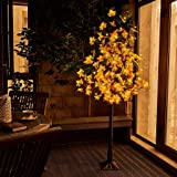 EAMBRITE 6FT Maple Tree with 128 Warm White Lights Decor Thanks Giving Day Wedding Party Holiday