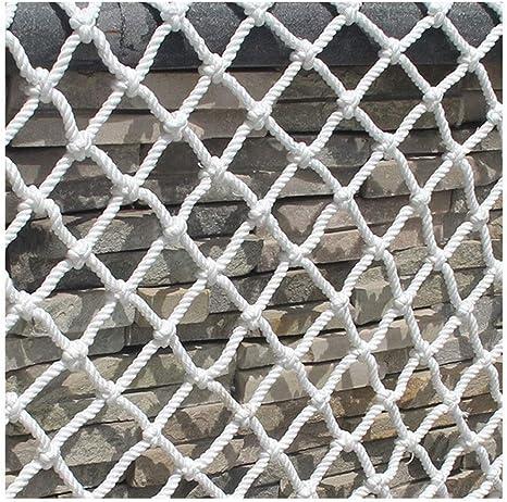 Construction De Filet Enfants Cl/ôture Net Nylon Corde Net Des Escaliers Protection Balcon Isolement Net Filet Anti-Chute,Blanc,5cm*5m*2m