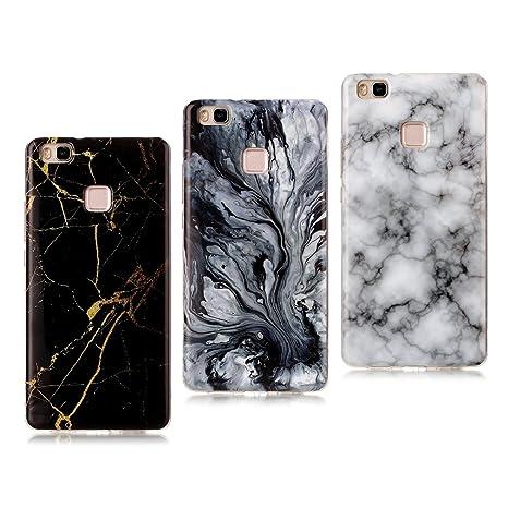 custodia huawei p9lite in silicone marmo naturale
