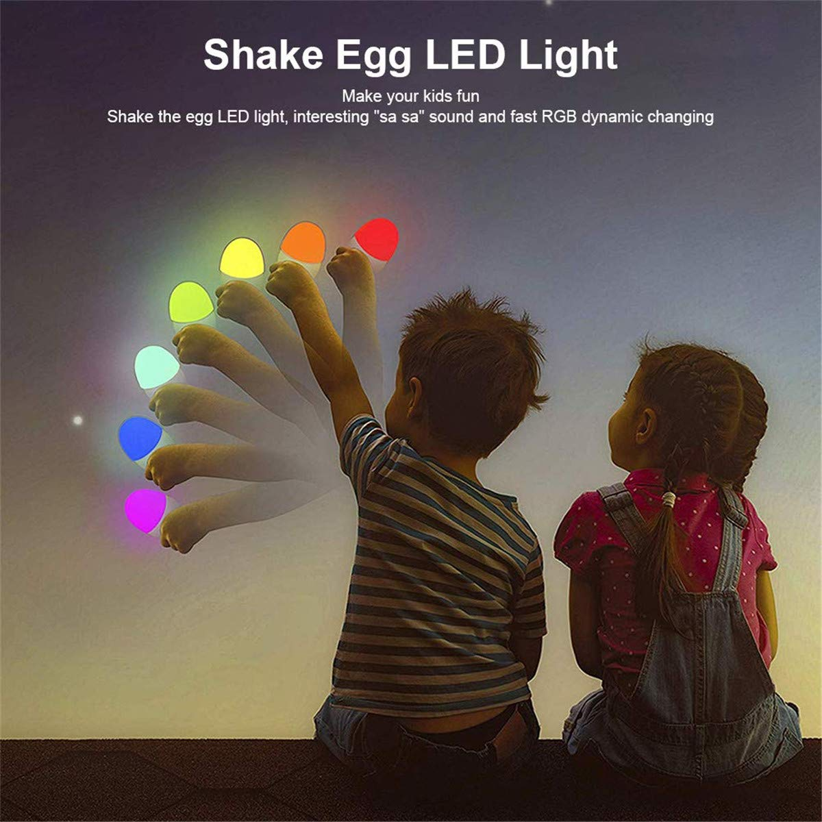Ranipobo Baby Night Light with Shake Changing Color Mode, LED Nursery Bedside Lamp with Touch Control Dimming Function Rechargeable Baby Night Light for Breastfeeding, 4 Lighting Modes