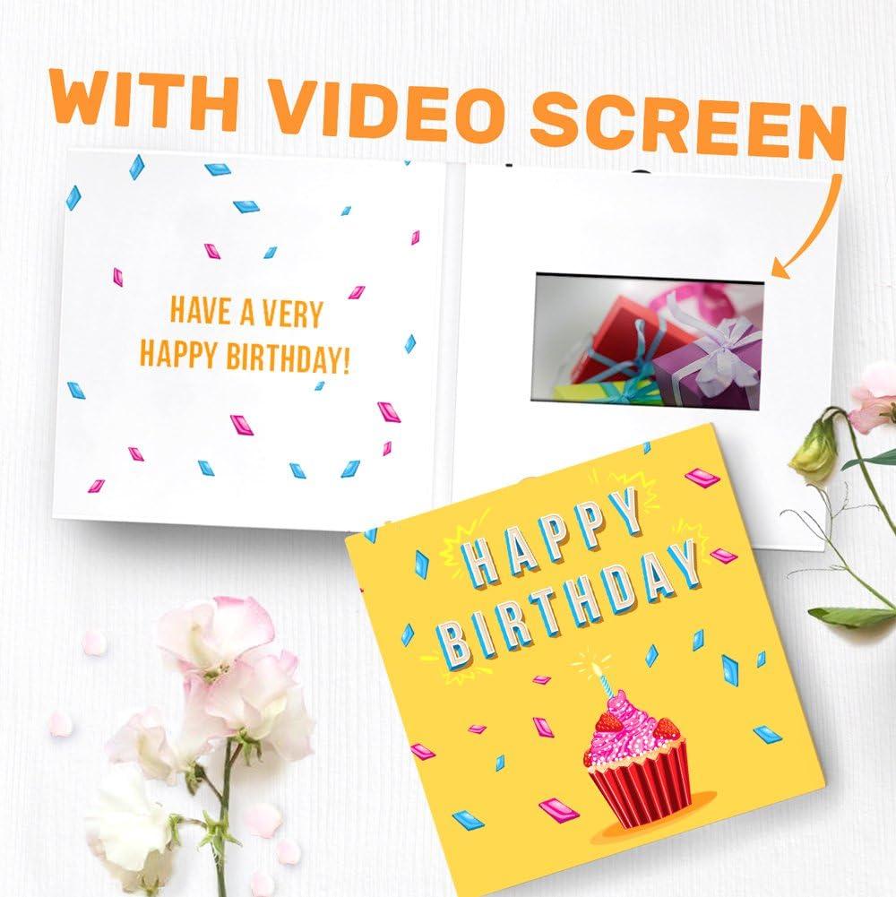 Amazon.com : Unique Birthday Card with Video Screen  Birthday