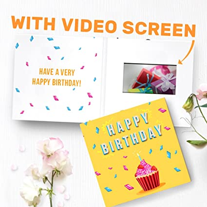 Amazon Unique Birthday Card With Video Screen