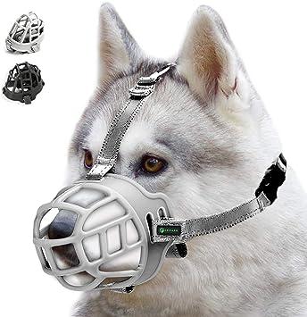 Atmungsaktiver Rundum-Abdeckung des Und Verstellbare Tr/äger Silikon-Korb Hund Maulk/örbe Verhindert Bellen ILEPARK Korbmaulkorb f/ür Hunde Bei/ßen und Kauen.