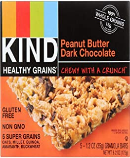 product image for Kind Granola Bar, Peanut Butter Dark Chocolate, 1.2-Ounce Bars, 5 Bars per Box, Case of 8 Boxes (Total 40 Bars)