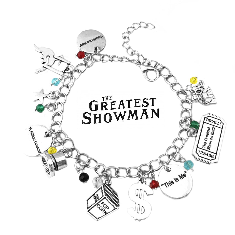 Superheroes Brand The Greatest Showman Hugh Jackman Charm Bracelet Broadway Musical w/Gift Box Premium Quality Cosplay Jewelry Series by