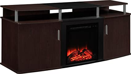 Amazon Com Ameriwood Home 1766196pcom Carson Electric Fireplace Tv