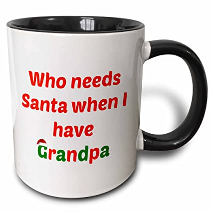 11 Ounce 3drose Santa I Have Been A Very Good Grandpa This Year In Red And Green Ceramic Mug Coffee Mugs