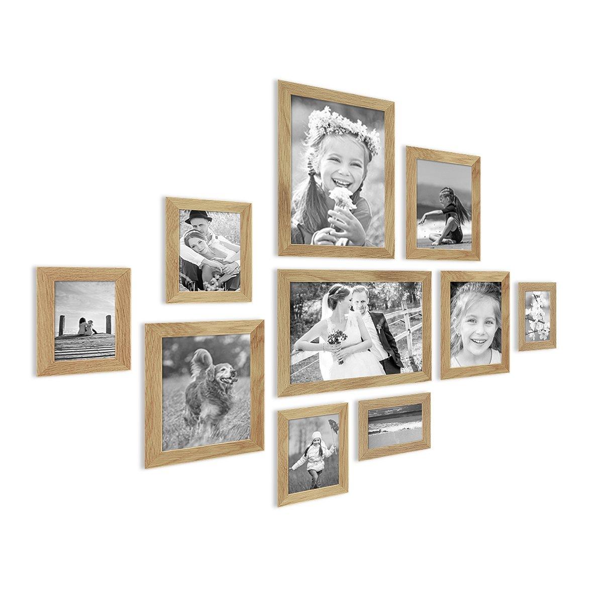 Amazon.de: Photolini 10er Bilderrahmen-Collage Basic Collection ...