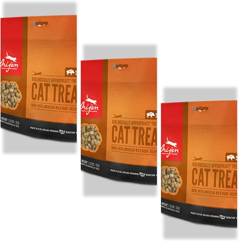 Orijen 3 Pack Freeze Dried Wild Boar Cat Treats, 1.25 oz. ea.